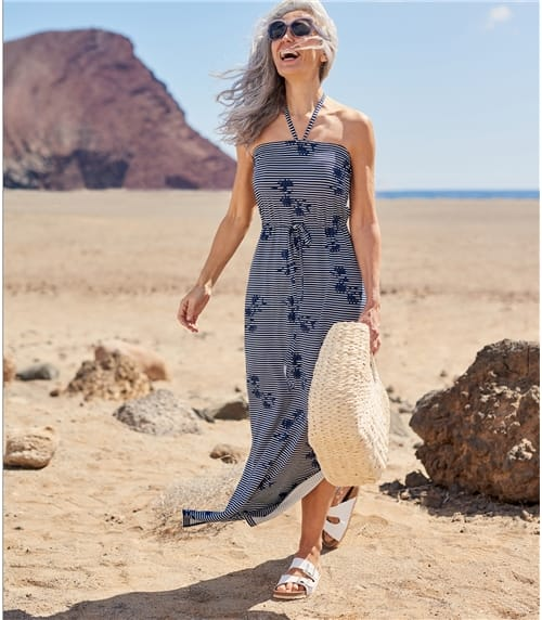 Womens Strapless Maxi Dress