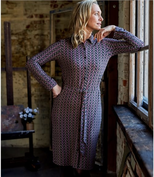 Womens Jersey Shirt Dress