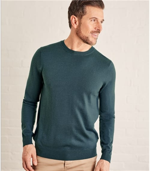 Mens Luxurious Merino Crew Neck Sweater