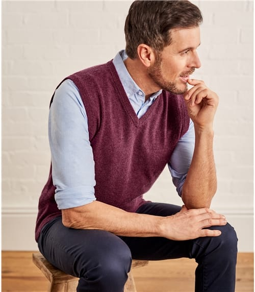 Mens Cashmere and Merino Slipover
