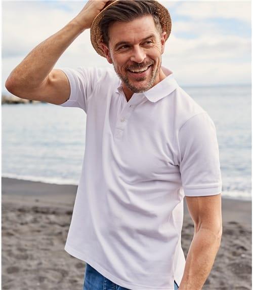 Mens Washed Pique Polo Shirt