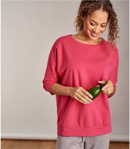 Lounge Sweatshirt aus Baumwolle mit geringem Elastananteil für Damen