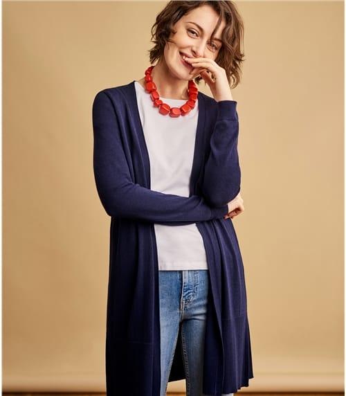 Strickjacke mit lange Ärmel aus Wollmischung für Damen