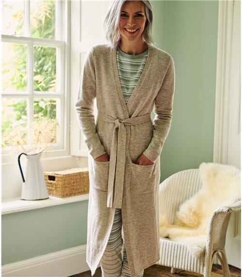 Womens Cashmere & Merino Luxe Dressing Gown