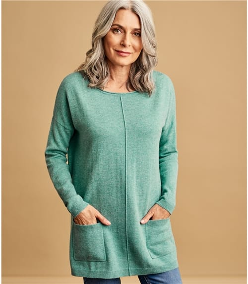 Womens Cashmere Merino Pocket Tunic
