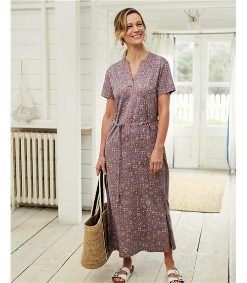 Notch Neck Maxi Dress