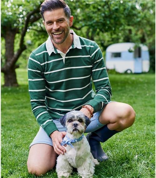 Rugby-Pullover mit Polokragen aus Baumwolle für Herren