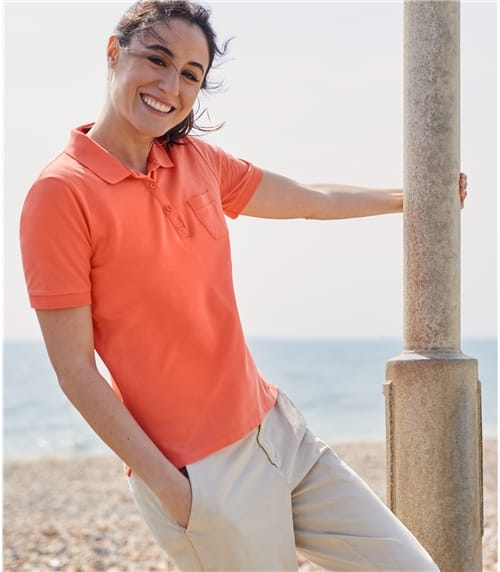Polo maille piquée - Femme - Jersey