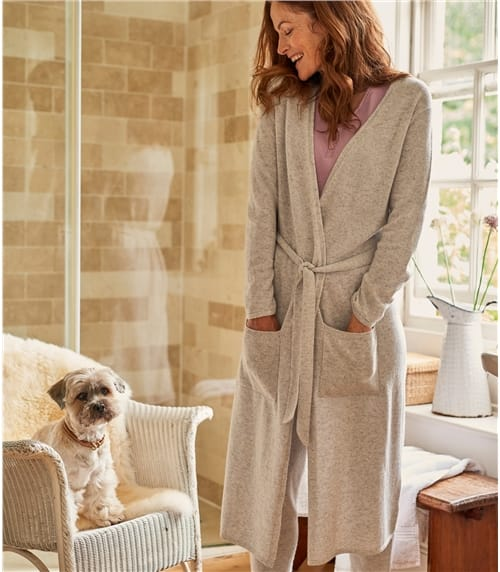 Womens Cashmere Merino Luxe Dressing Gown