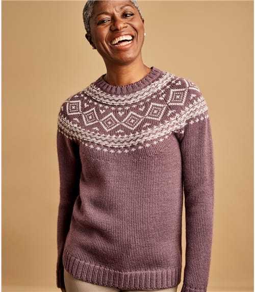 Womens Chunky Fairisle Jumper