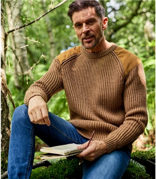 Mens Pure Wool Countryman Jumper