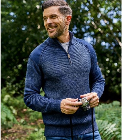 Mens Pure Wool Hill Walker Sweater