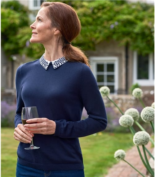 Womens Detachable Collar Sweater