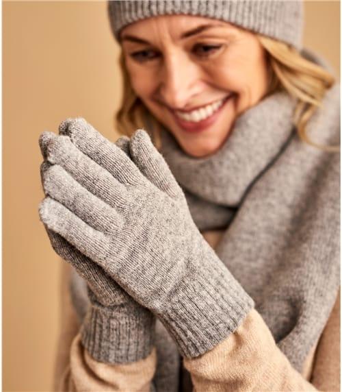 Handschuhe aus Lammwolle für Damen