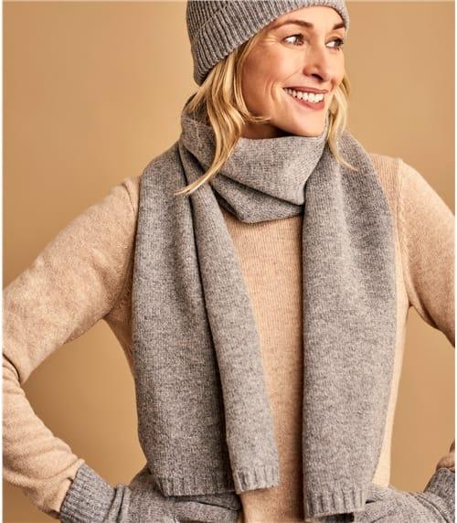 Женский шарф из шерсти ягненка