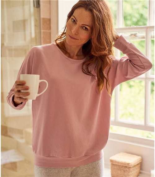 Womens Oversized Super Soft Long Sleeve Sweatshirt