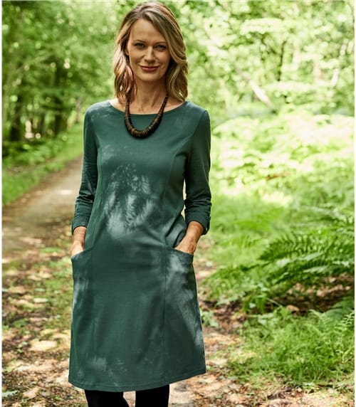 Womens Jersey Seam Detail Tunic Dress