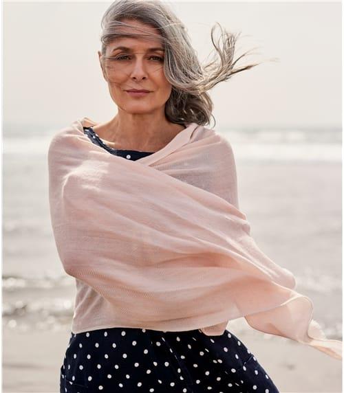 Foulard luxueux à imprimé chevron - Femme - Pure Laine