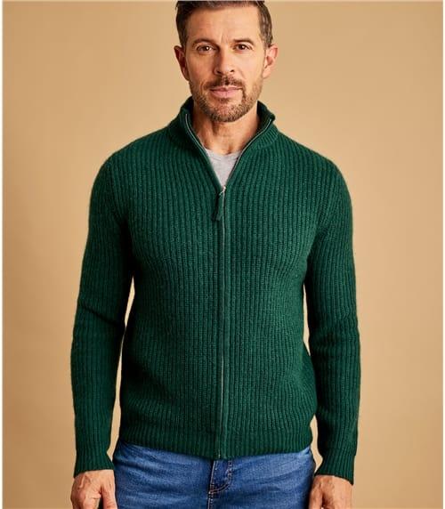 Mens Wool Blend Zip Through Jacket