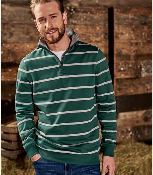 Mens Cotton Half Zip Sweatshirt