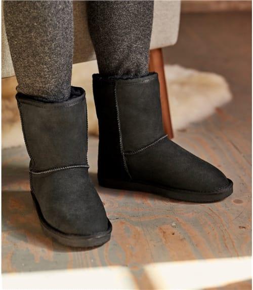 Pantoffel Stiefel aus Schafleder für Damen