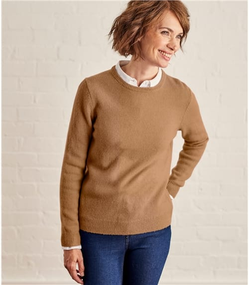 Womens Lambswool Crew Neck Jumper