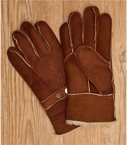 Womens Buckle Detail Sheepskin Glove