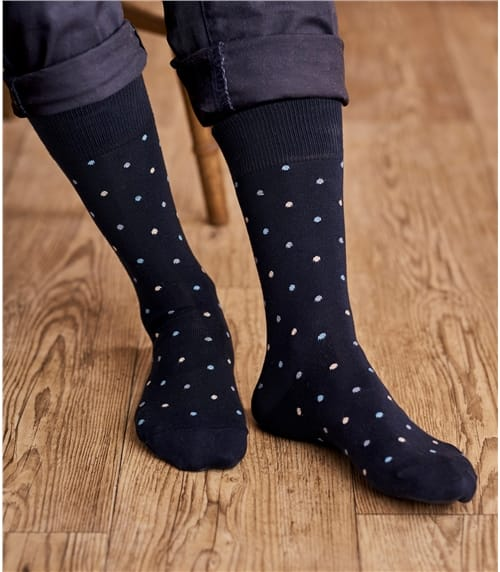 Mens Pima Cotton Spot Sock