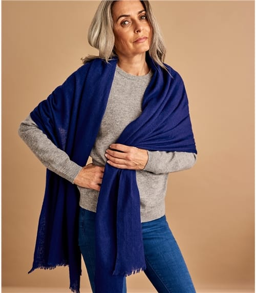 Womens Woven Wool Scarf