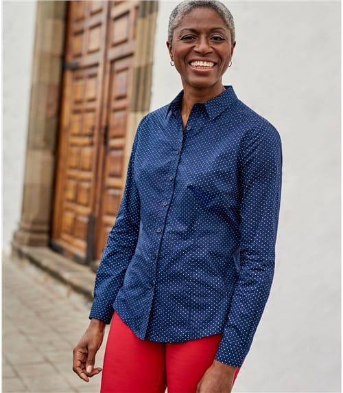Womens Fitted Poplin Shirt