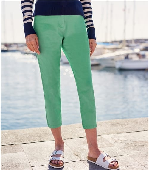 Womens Cropped Color Jeans