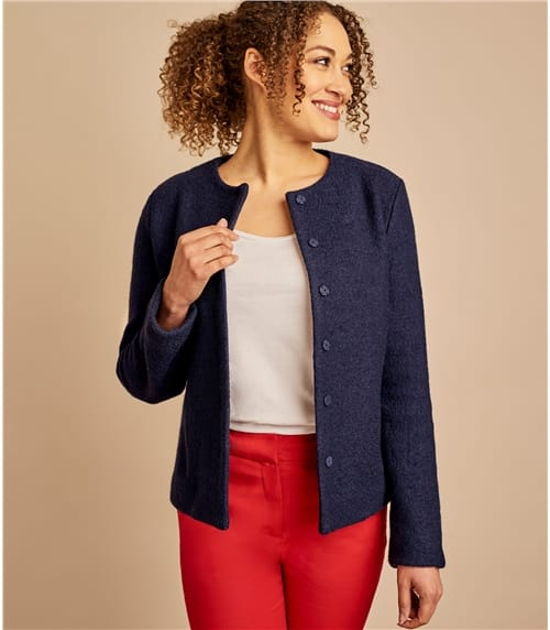 Womens Boiled Wool Jacket