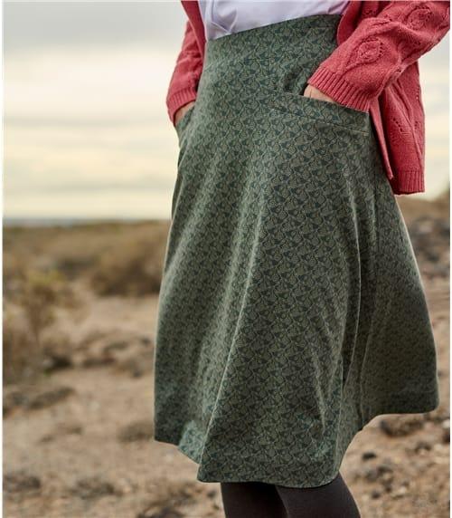 A-Linie Rock mit Taschen Detail für Damen
