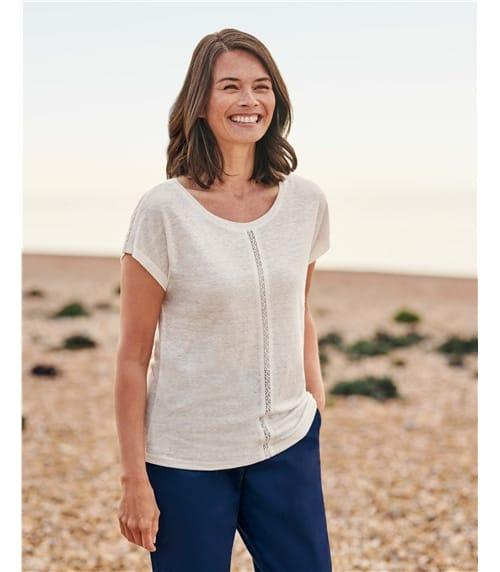 T-Shirt aus Leinen für Damen