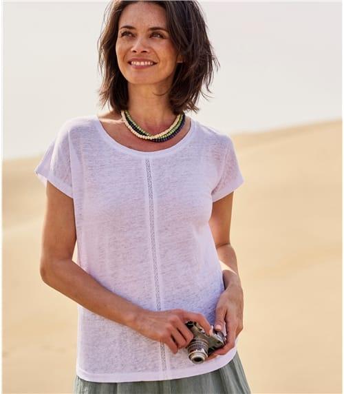 Womens Linen Jersey Insert T-Shirt