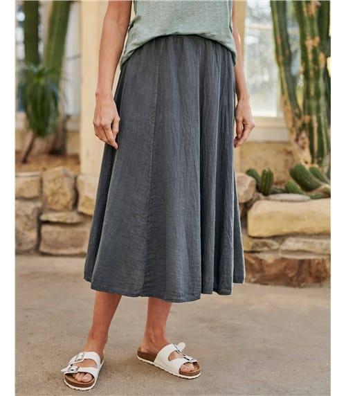Womens Linen Skirt