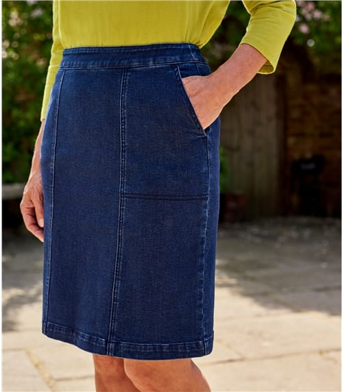 Womens Cotton Denim Skirt
