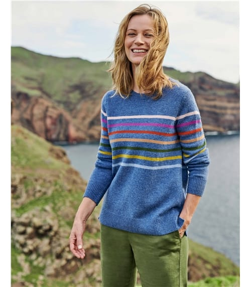 Womens Multi Stripe Jumper