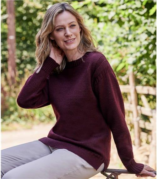 Womens Pure Wool Guernsey Jumper