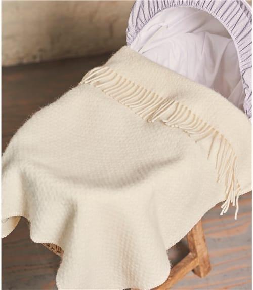 Kinderwagendecke aus reiner Wolle