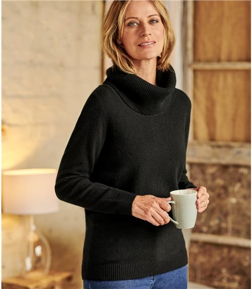 Pure Cashmere Cowl Neck Jumper