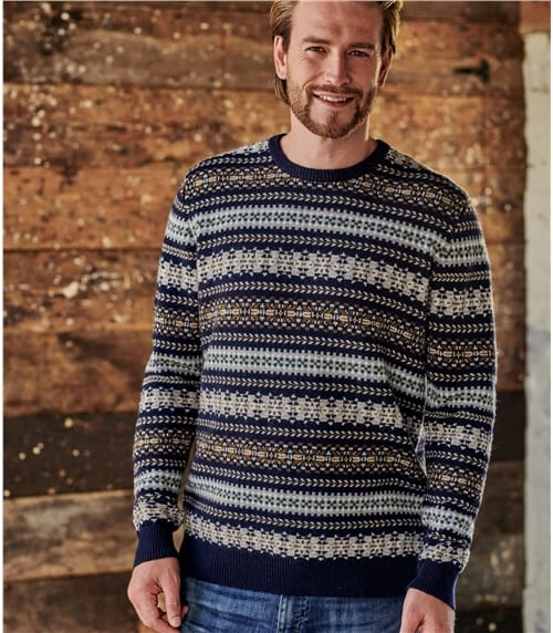 Mens All Over Fairisle Sweater