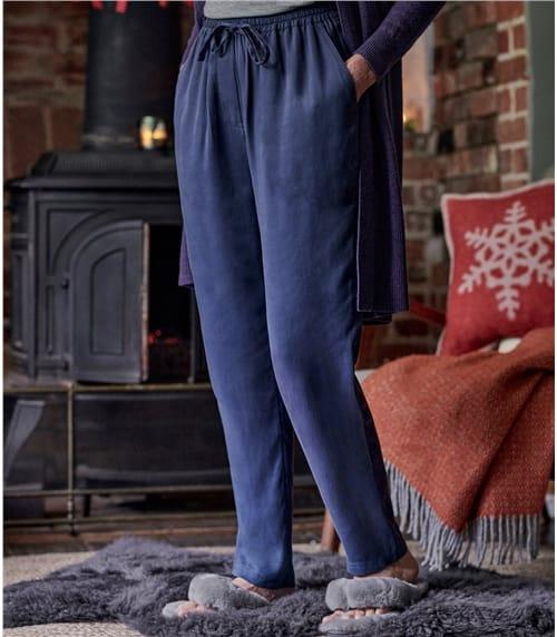 Pantalon carotte avec lien de serrage - Femme - Lyocell