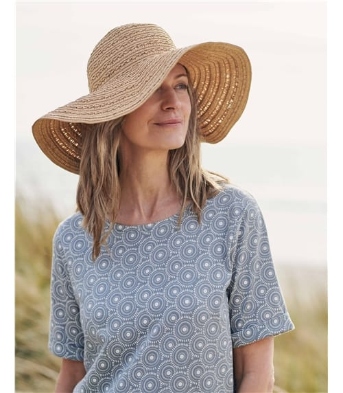 Braided Floppy Straw Hat