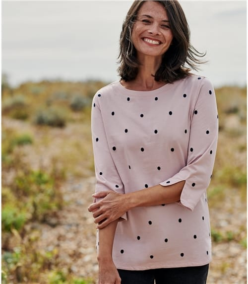 Womens Embroidered Spot Top
