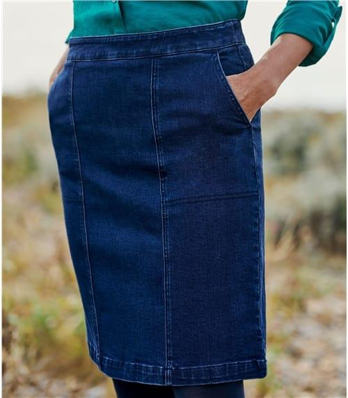 Womens Cotton Denim Skirt