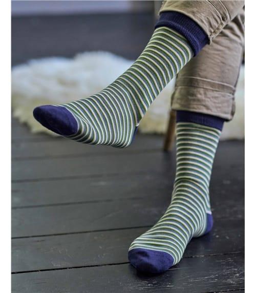 Mens Stripe Bamboo Sock