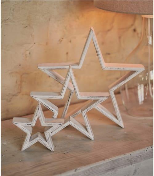 Set Of 3 Large Stars