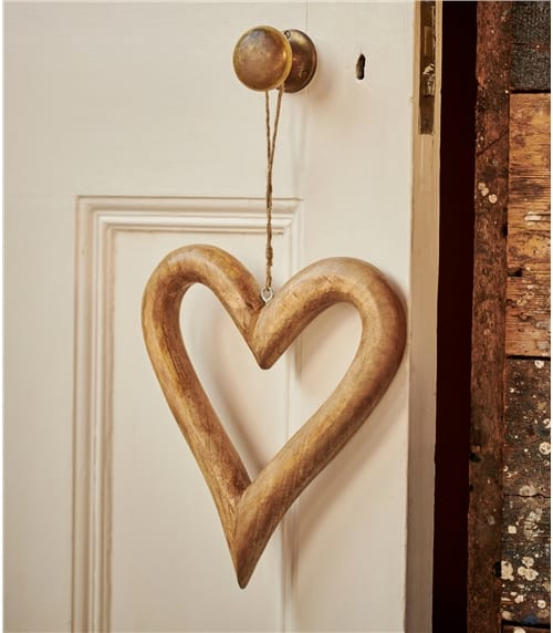 Pair Of Large Wood Hearts