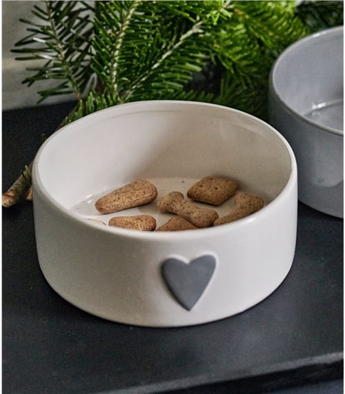 Dog Bowl With Heart